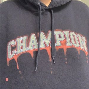 Bleach dyed champion hoodie